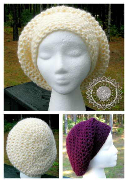 Incredibly Simple Slouchy Hat - Free Pattern | Gorros, Tejido y ...