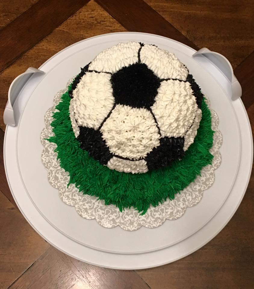 Soccer ball cake!