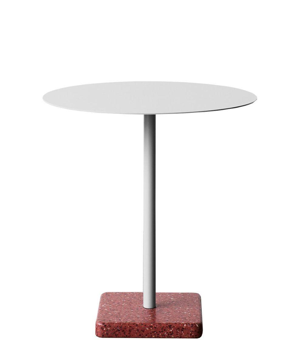 Hay Terrazzo Gartentisch Platte Hellgrau Rund Sockel Rot Jetzt Bestellen Unter Https Moebel Ladendirekt De Garten Gartenmoe Gartentisch Tisch Terrazzo