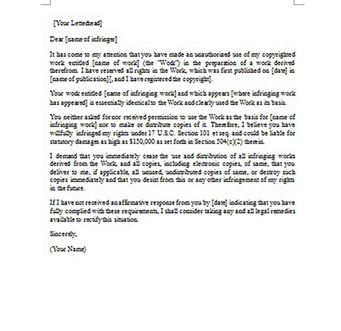 Cease And Desist Template Free Sample For Pdf, Doc, Word