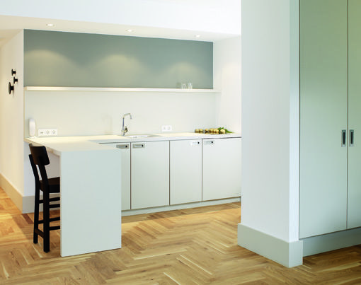 hotel - berlin - grand-hotel - modern - antique - kitchen - white - interieur in weis und holz modern design