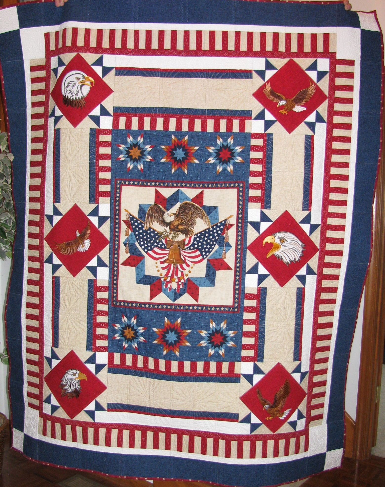 I made this quilt for a Viet Nam veteran.  He said he'd never received anything from anyone before.
