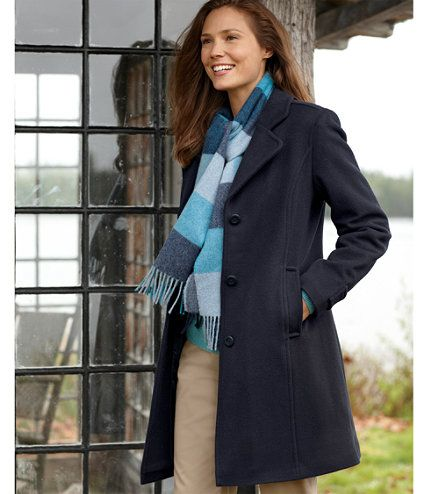 Classic Lambswool Polo Coat, Three Quarter: Casual Jackets | Free Shipping at L.L.Bean