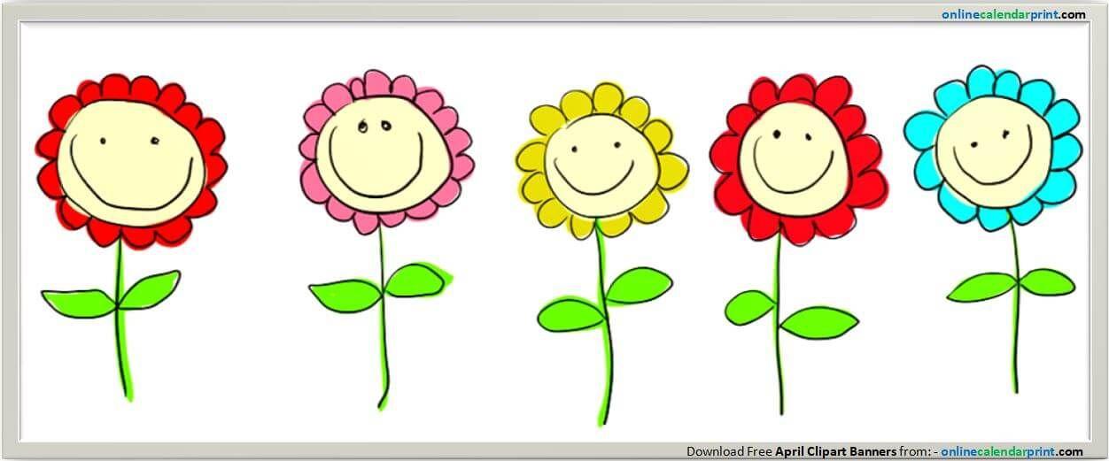 http www onlinecalendarprint com april clipart html hello april rh pinterest co uk april pictures clipart April Flowers Clip Art