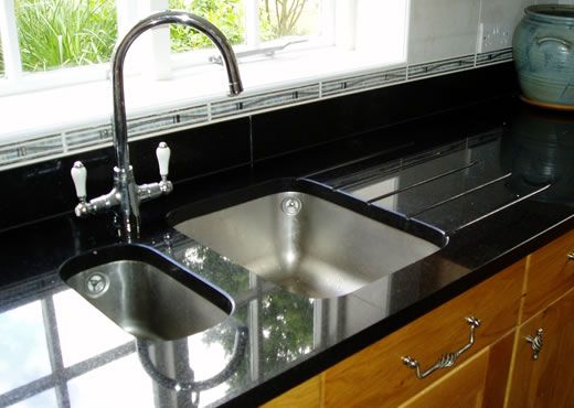 Two Hole Double Under Counter Mounted Stainless Steel At