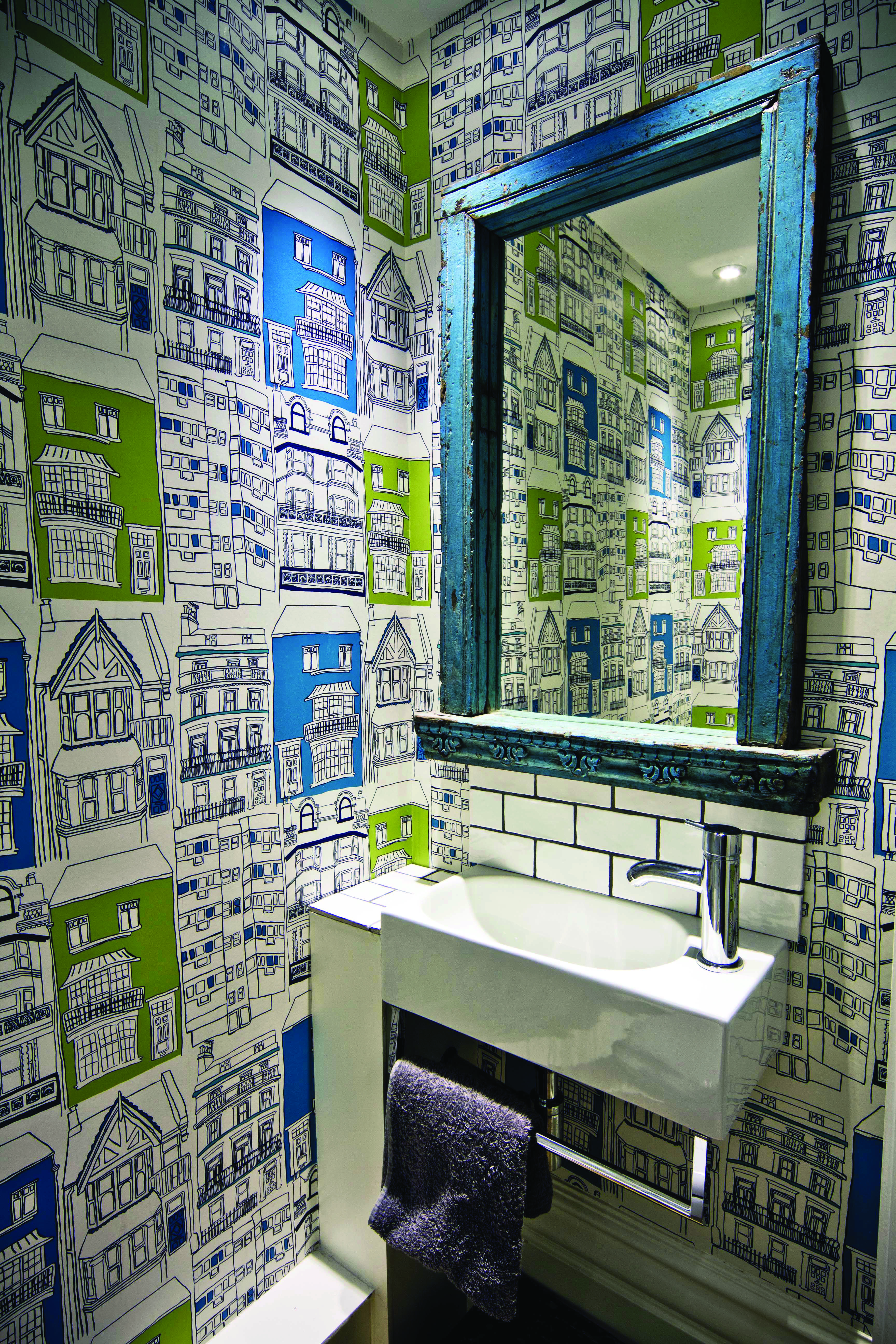 Cloakroom Ideas That Make The Most Of Your Small Space And Downstairs Toilet Funky Bathroom Quirky Bathroom Bathroom Wallpaper