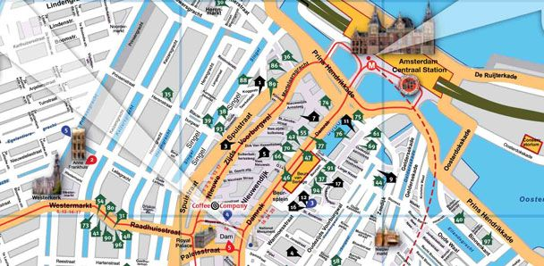 Home of the Famous Amsterdam Free Tour with some of the best – Tourist Map Of Amsterdam
