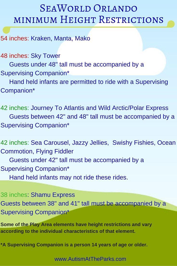 Seaworld Height Restrictions Sea World Florida Attractions Disney World Trip