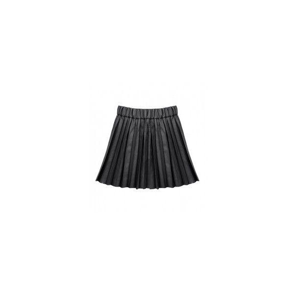 Leatherette Pleated Skater Skirt In Black ($26) ❤ liked on Polyvore featuring skirts, black skater skirt, circle skirt, flared skirt, pleather skirt and pleated skater skirt