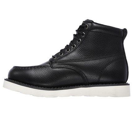 Men S Pettus Memory Foam Relaxed Fit Moc Toe Work Boot Skechers