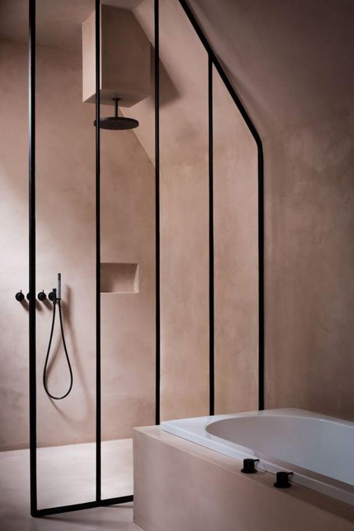 La couleur rose poudré dans la déco intérieure Simple bathroom