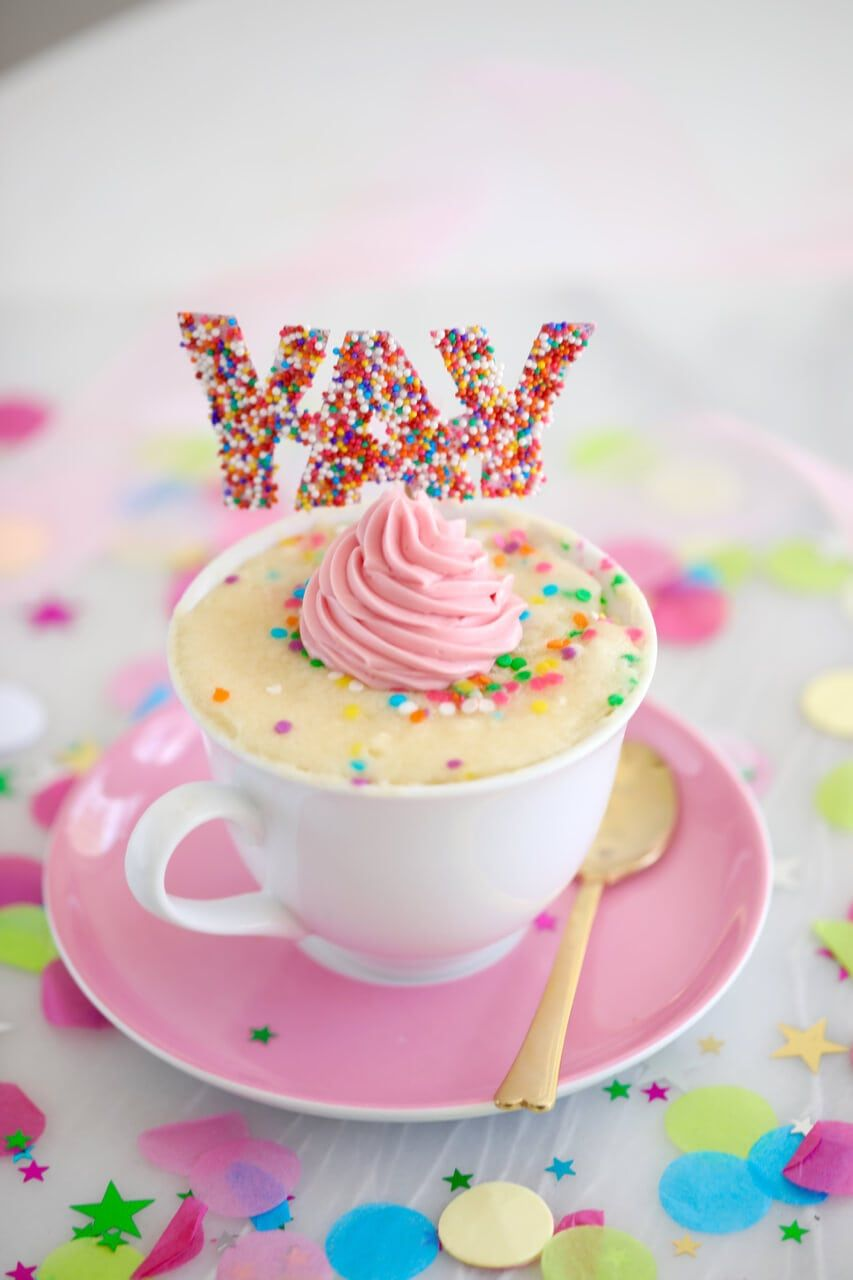 Celebration Vanilla Mug Cake (Egg Free) | Recipe | Vanilla ...