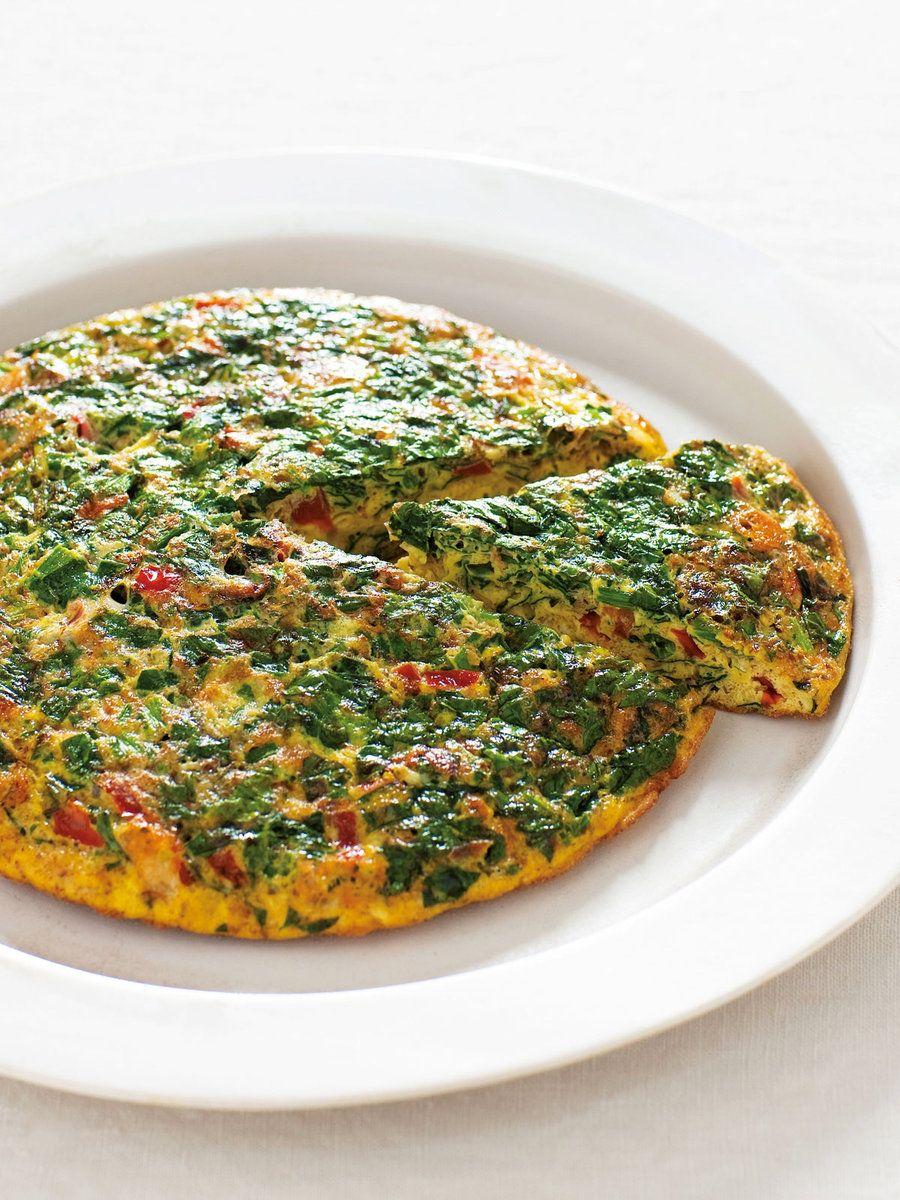 【ELLE a table】ほうれん草とかつおぶしのトマトオムレツレシピ|エル・オンライン