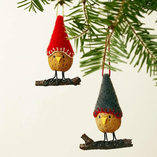 Eco Friendly Christmas Decor Recycled Crafts And Edible Decorations Holiday Crafts Christmas Unusual Christmas Ornaments Bird Christmas Ornaments