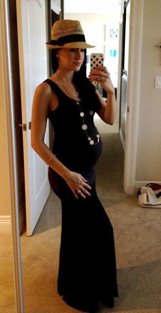 Vestido largo negro embarazada