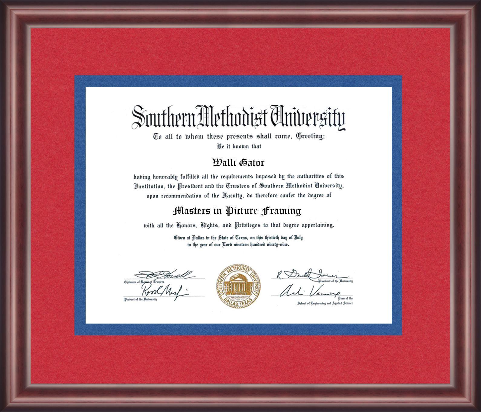 Southern Methodist University Diploma Frame Talking Walls University Diploma Diploma Frame Southern Methodist University
