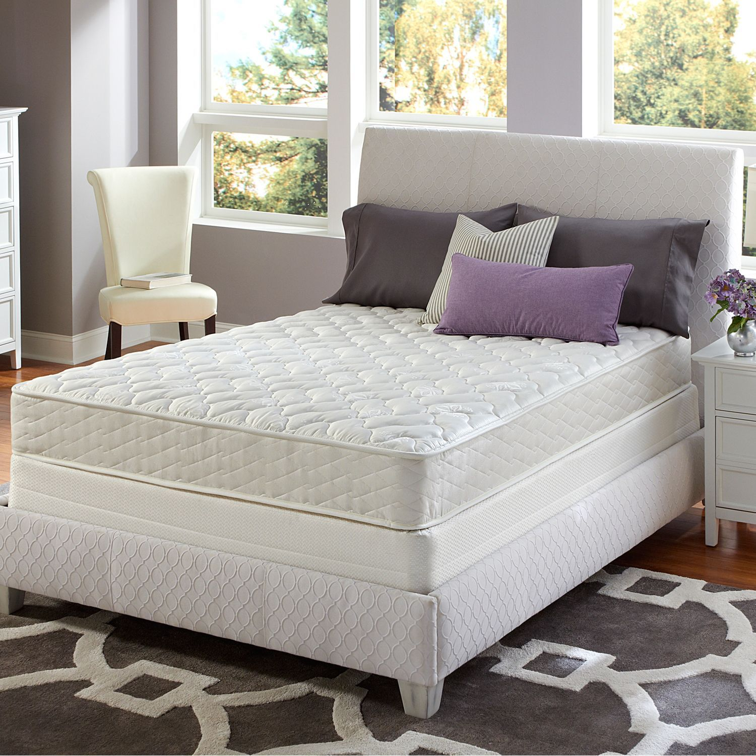 Sertapedic Euclid Firm Mattress Set Full Sam S Club Good Reviews And Free Shipping