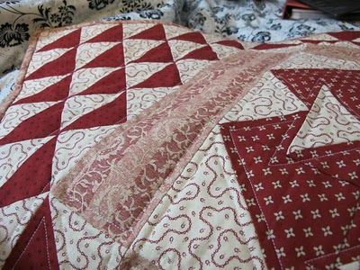Little quilt made as part of Marg Low's Red Club at the Patchwork Apple.