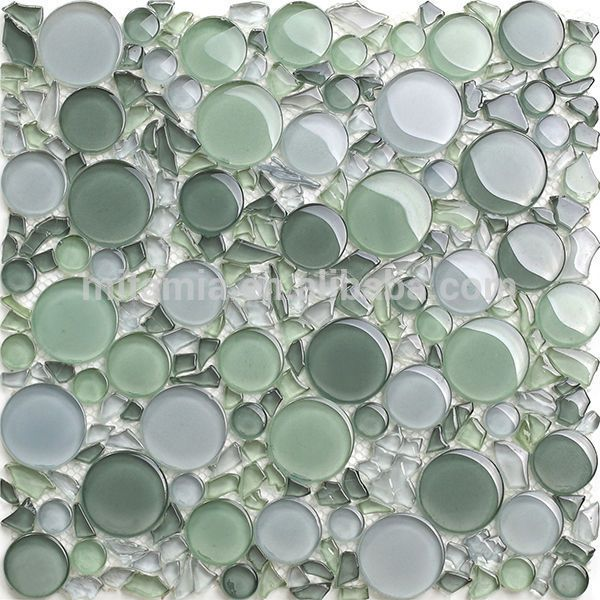 Source Light Green Crystal Irregular Shape Bubble Gl Bathroom Tile On M Alibaba