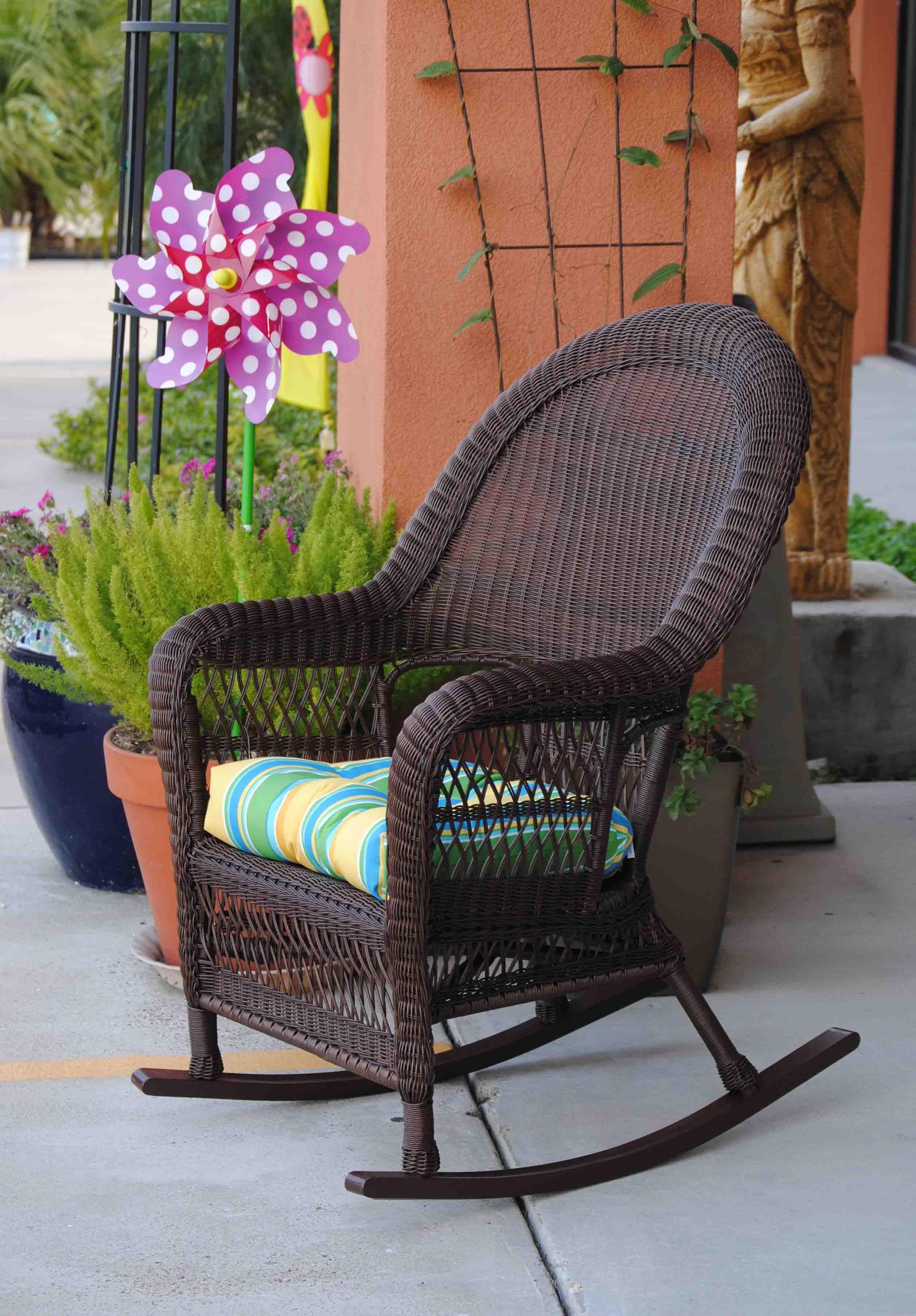 Rocking Chair PVC resin on all aluminum frame Chestnut dark