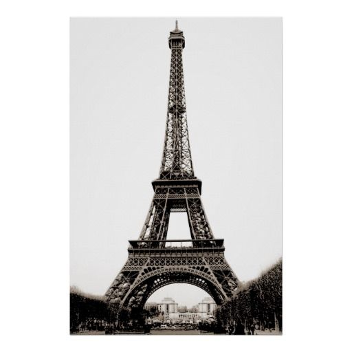 Sepia vintage eiffel tower paris travel