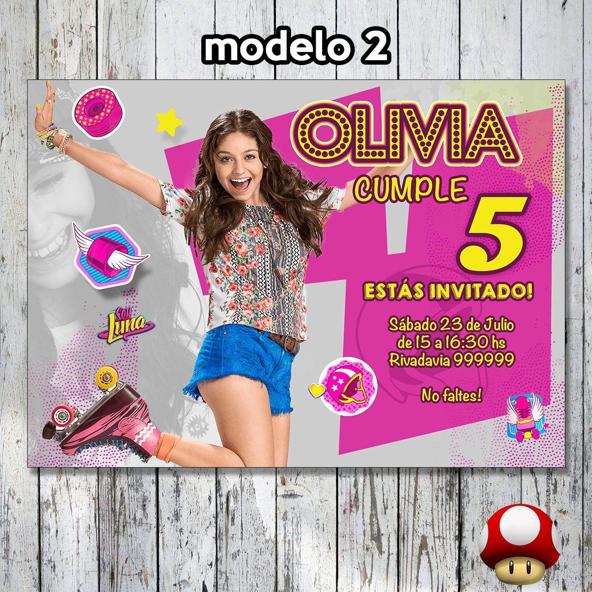 Invitación Soy Luna Cumpleaños Imprimible Digital Imagen Soy