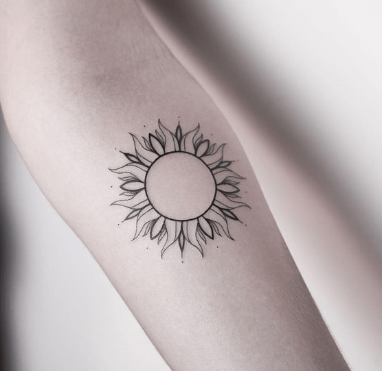 Arm Sun Tattoo Designs Trending #coupletattoos