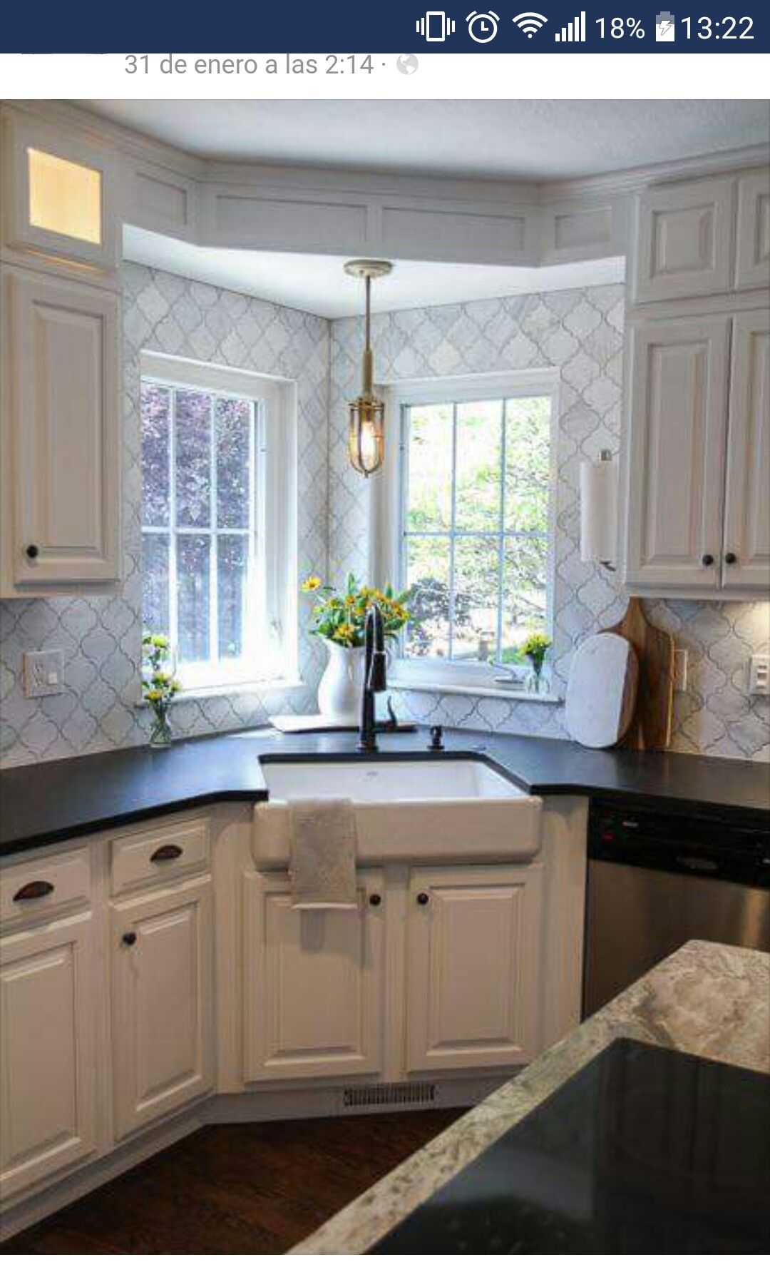 Corner Farmhouse Sink Modern Farmhouse Kitchens Kitchen Corner Kitchen Remodel