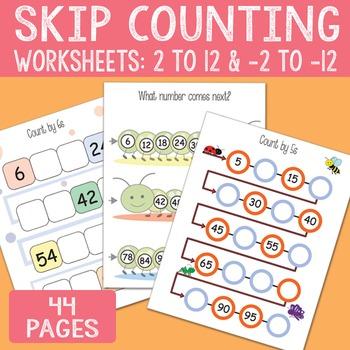 Skip Counting Worksheets 2 3 4 5 6 7 8 9 10 11 12 And Backwards Skip Counting Worksheets Skip Counting Counting Worksheets Skip counting by 6 worksheets
