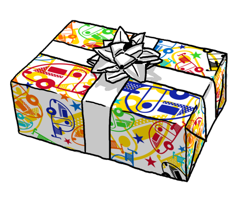 Why not wrap a present with TB trailer wrapping paper