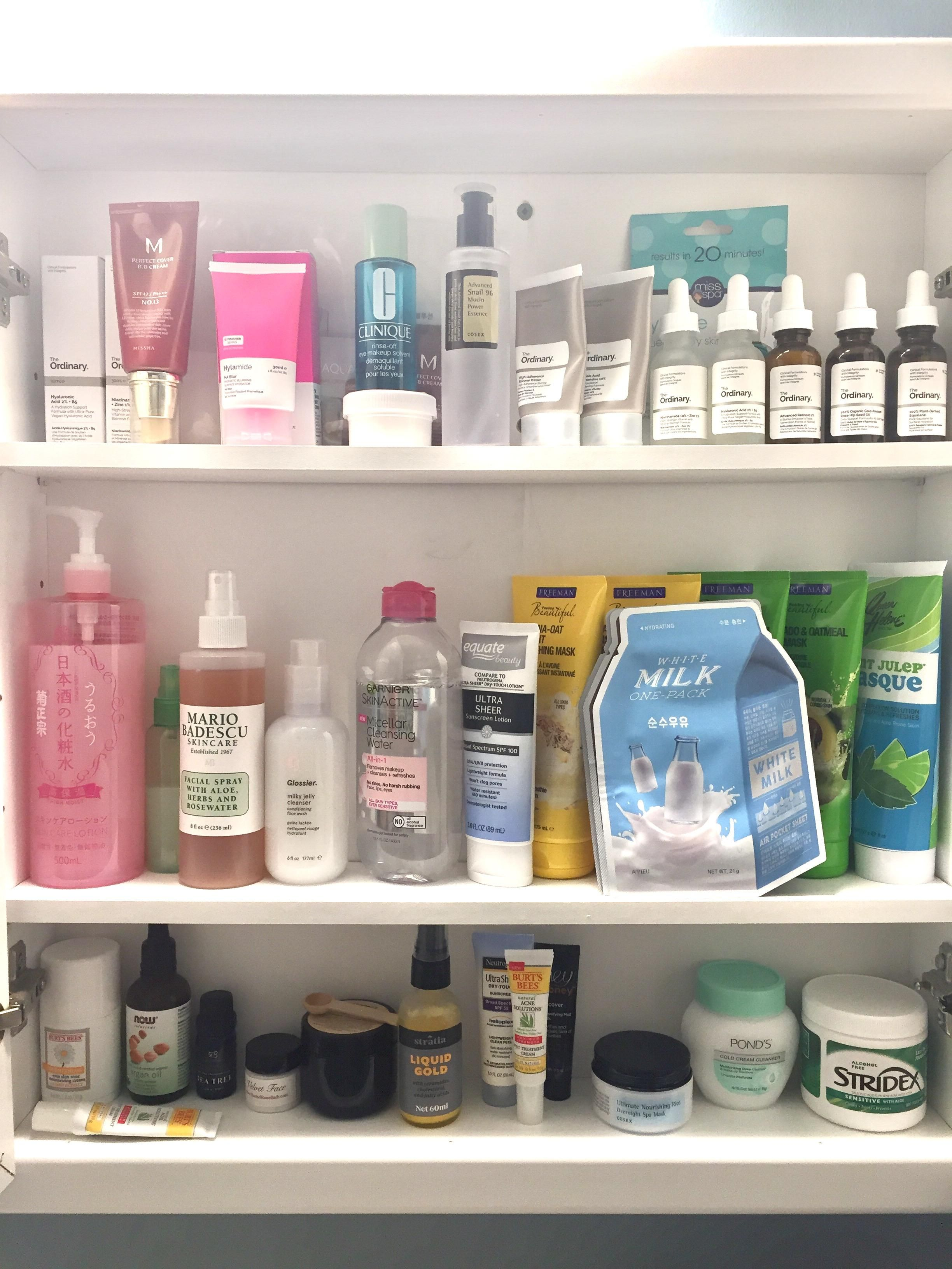 Haul My Skincare Cabinet Korean Skincare Korean Skincare Routine Skin Care Routine Steps