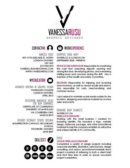 graphic design resume Digital Design Inspiration Pinterest