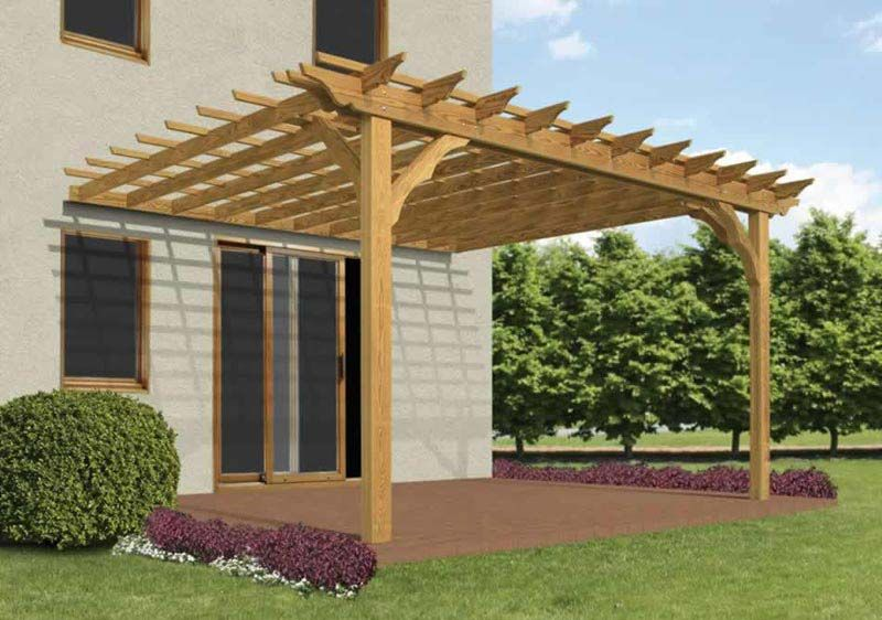 Extraordinary Design Ideas How To Build A Pergola Attached The House  Building Maple - Extraordinary Design Ideas How To Build A Pergola Attached The House