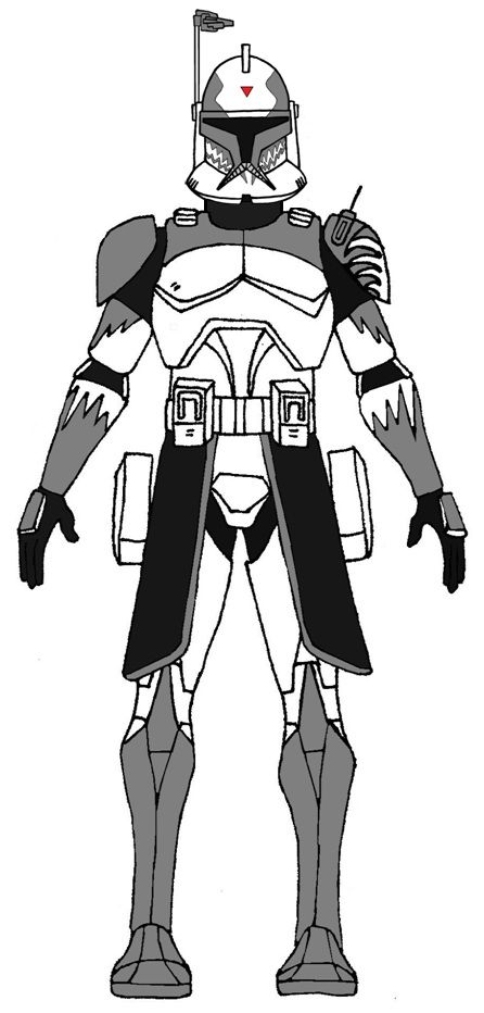 Clone Commander Wolffe 2 Star Wars Pictures Star Wars Trooper Star Wars Drawings