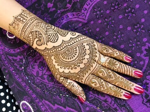 Mehndi Designs Upper Hands : Step by full hand mehndi design traditional rajasthani