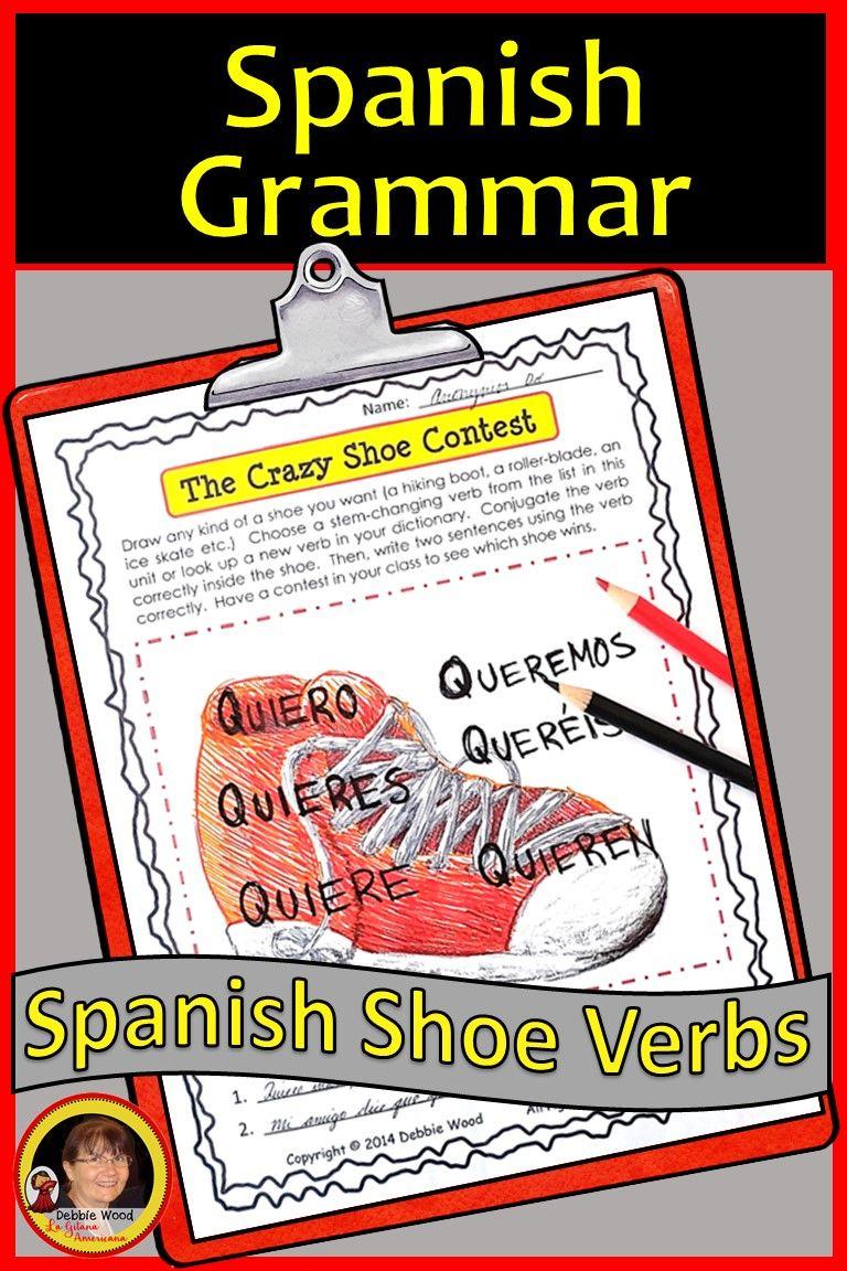 Spanish Shoe Verbs How To Speak Spanish Homeschool Spanish Spanish [ 1152 x 768 Pixel ]