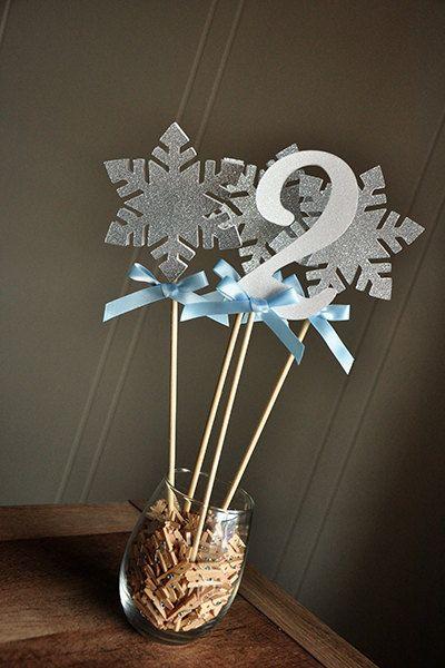 Frozen Centerpiece 4 Piece. Ships in 2-5 by ConfettiMommaParty