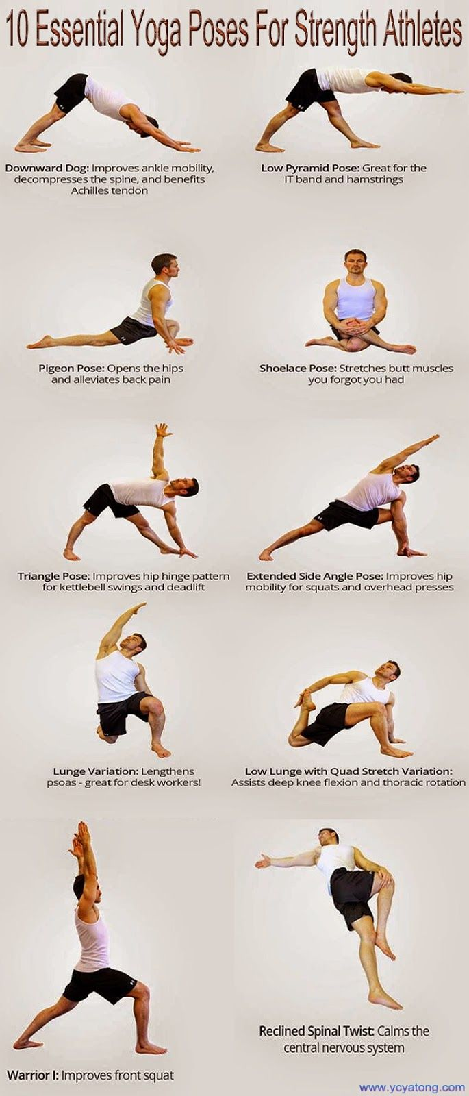 10 Essential Yoga Poses For Strength Athletes Essential Yoga Poses Yoga Poses Yoga Poses Pictures