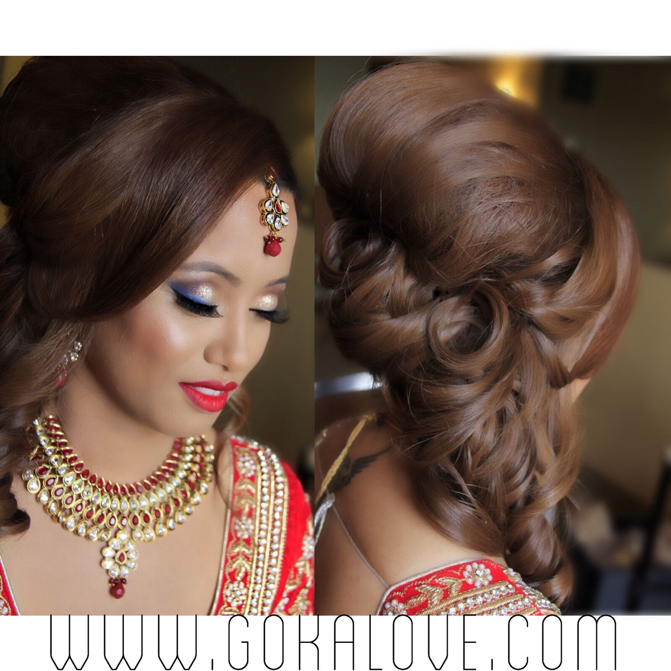 makeup and hair! boston, indian wedding, nepali wedding