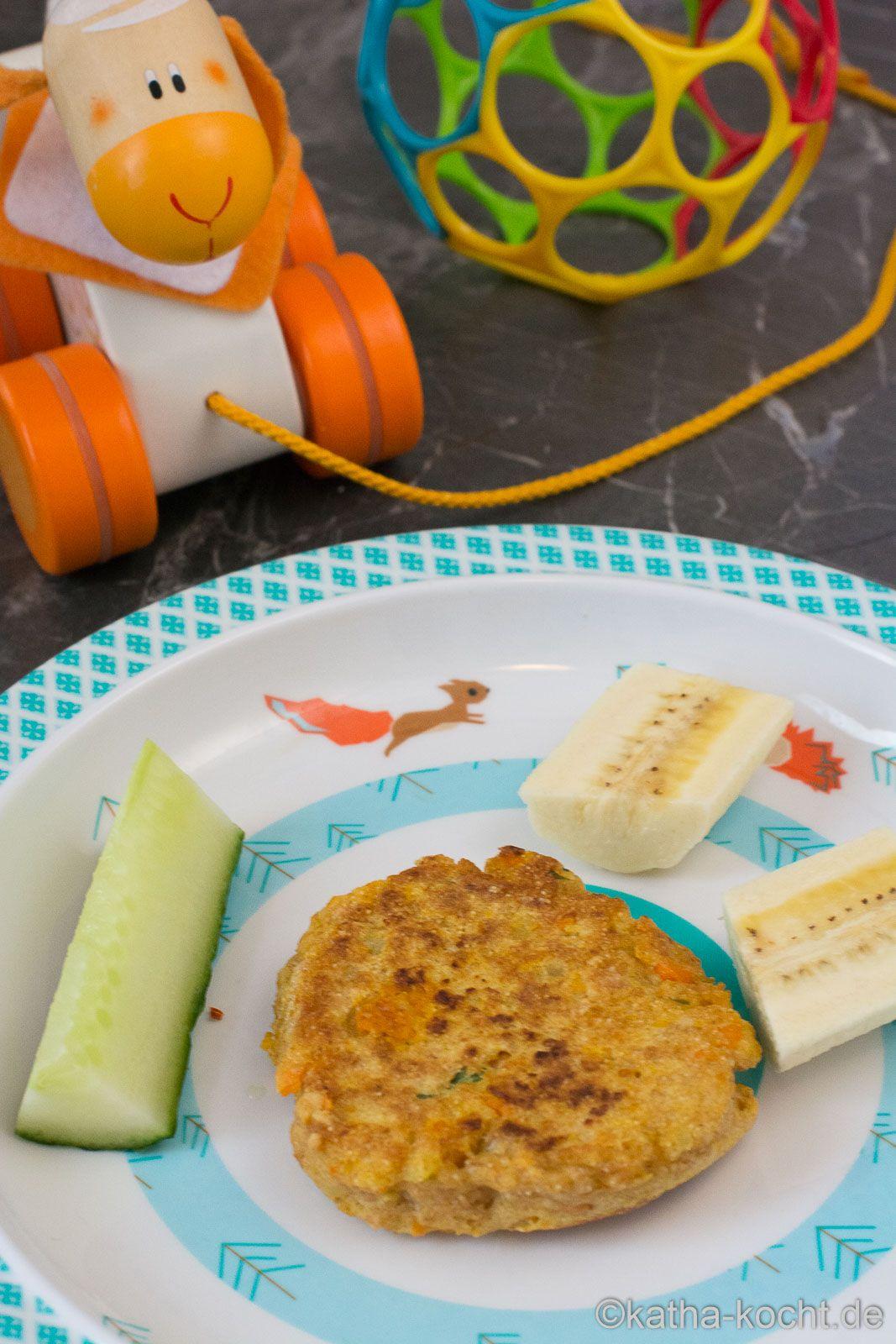Gemüse Pancakes für Babys selber machen - Katha-kocht!