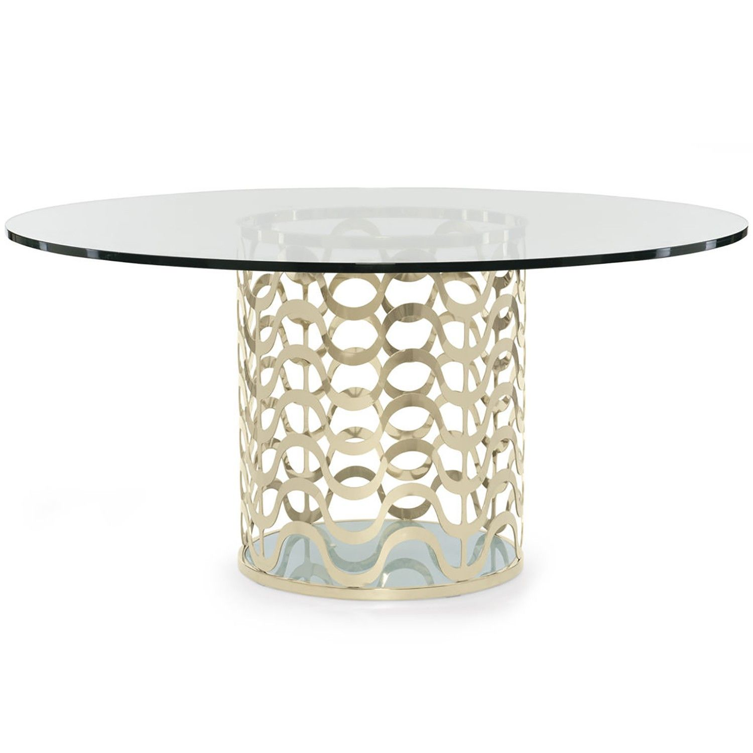 Round glass table top view caracole ride the waves dining table  round glass glass table and