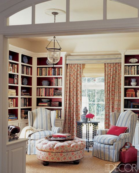 Home Library Design, Cozy Home Library, Home