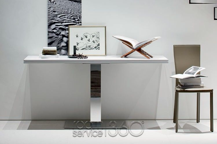 Elvis Extension Console Table In White Lacquer By Cattelan Italia
