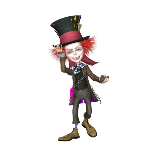DBS_MadHatter.png ❤ liked on Polyvore featuring alice and alice in wonderland