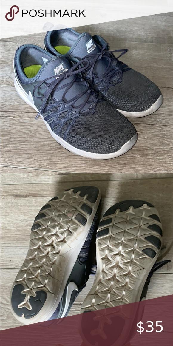 Dark gray Nike sneakers athletic shoes