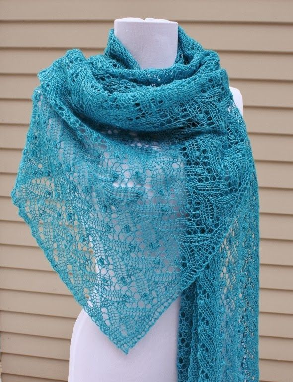 All Knitted Lace: January Estonian Lace Shawl - pattern | Knit 1 ...