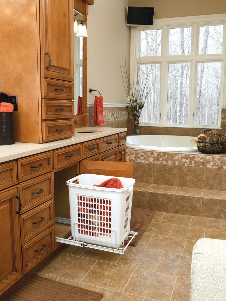 For A Handy Place To Throw Your Laundry, Install This Pull Out Laundry  Hamper In Your Base Cabinets.