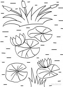 Lily Pad Coloring Pages Coloring Pages Coloring Pages For Kids