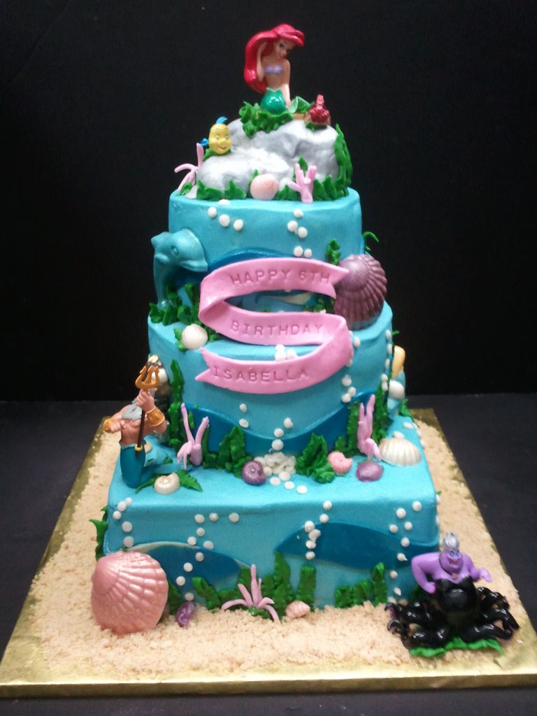 Little Mermaid Cake by dragosisters Food and Drinks Pinterest