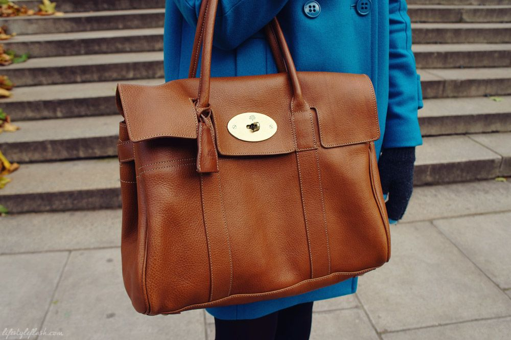 Mulberry Bayswater leather tote bag in oak #mulberrybag